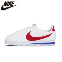 NIKE Classic Cortez Leather New Arrival Womens Running Shoes Stability Footwear Super Light Sneakers For Women Shoes#807471-103
