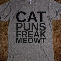 Cat Puns Freak Meowt-Unisex Athletic Grey T-Shirt