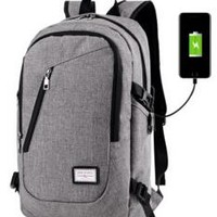 new light weight canvas with charging port shoulder bag