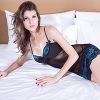 Fashion Women Love Sexy Hot Underwear Lace Babydoll Lingerie Sleepwear Open Bra Crotch = 4662137412