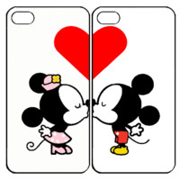 Mickey And MInnie Mouse Kiss Samsung Galaxy S3 S4 S5 Note 3 4 , iPhone 4 4S 5 5s 5c 6 Plus , iPod Touch 4 5 , HTC One M7 M8 ,LG G2 G3 Couple Case