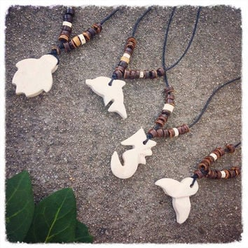 Stone Sea Creature Necklaces