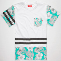 Ayc Line Up Mens Pocket Tee White  In Sizes