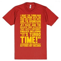 Turbo Time-Unisex Red T-Shirt