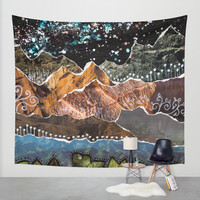 Adventure Is Out There Wall Tapestry by Jenndalyn