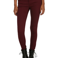 Almost Famous Burgundy Skinny Jeans