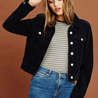 Corduroy Button Front Jacket