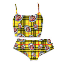 Clueless Plaid Bralette and Panty Set