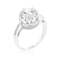 Royal Crest Filigree Cubic Zirconia Ring JGI