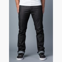 {Vantage Point} Disbelief Slim-Straight Jeans in Black Out