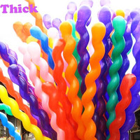 100Pcs/Pack Fashion Hot Sale Giant Helium Spiral Latex Balloons Wedding Birthday Party Decoration Ballons Long Colorful Ballons (Size: 16 inch, Color: Multicolor) = 1946179204