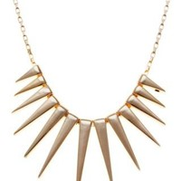 New Look Mobile | Gold Spike Necklace