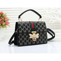 Samplefine2 GUCCI fashionable embossed striped single shoulder bag hot seller of casual ladies shopping bag #3