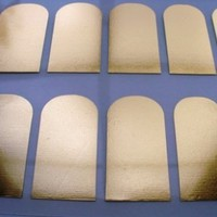 Gold Nail Foil Wraps polish strips stickers for Fingers and Toes by Miss Silver