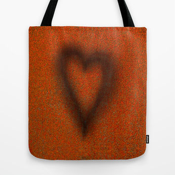 Blow torched love heart Tote Bag by Bruce Stanfield