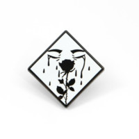 Crying Rose Enamel Pin