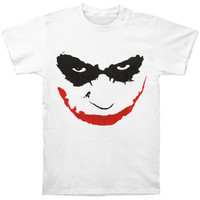 Batman Men's  Joker Smile Outline T-shirt Black Rockabilia