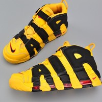 New Color Nike Air More Uptempo Bruce Lee Black Yellow 414962-700 - Beauty Ticks