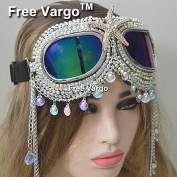 Aviator Spikes and Chains Flexible Goggles (5 Styles)