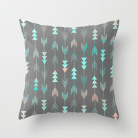 Aztec Arrows Throw Pillow by Sunkissed Laughter | Society6