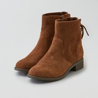 AEO LACE UP FLAT BOOTIE