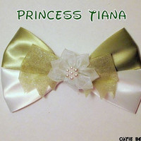 Princess Tiana hair bow Princess and the Frog Disney Inspired