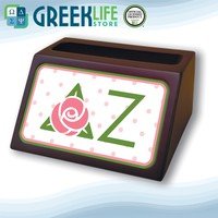 Delta Zeta Wooden Card Holder