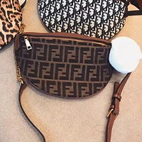 "Hot Sale ""FENDI"" Popular Women Waist Bag Shoulder Bag Crossbody Satchel"