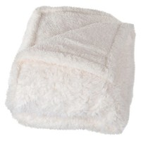 Yorkshire Home Solid Fleece Sherpa Backed Throw
