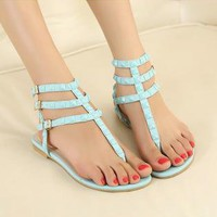 Candy Color Sandals with Cute Studs for Women FGD623