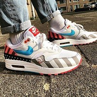 Hot Sale Piet Parra x Nike Air Max 1 White Multi Retro Running Shoes AT3057-100