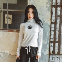 HY SEVEN Yoga Sports Shirts Women Ladies Solid High Neck Long Sleeve Autumn T-Shirt Fitness Gym Running Workout Clothes Tops