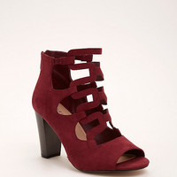Strappy Cage Stacked Heels (Wide Width)