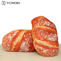 Creative Simulational Plush Bread Shape Pillow funny food nap pillow Plush Nap Cushion kids toy Birthday Gift for Children