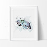 Millennium Falcon Watercolor Art Print