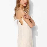Pins And Needles Lace Side-Cutout Slip Dress - Urban Outfitters
