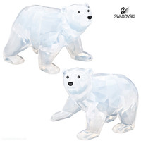 Swarovski White Opal Crystal Figurines POLAR BEAR CUBS #1080774