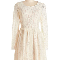 ModCloth Mid-length Long Sleeve A-line Miss Magnificent Dress