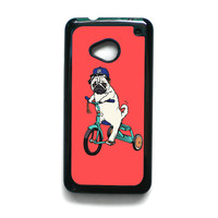 Pug Bicycle For HTC ONE M7/HTC ONE M8/HTC ONE M9 Phone case ZG