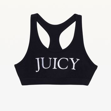 Embroidered Juicy Sports Bra