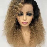 """18"""" Kayla Curly Lace Front wig 1b/27 Custom Wig"""
