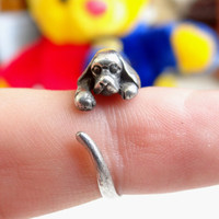 925 Sterling Silver Ring Your Dog Ring COOL Animal Ring, Best Selling Animal Jewelry, Children's Jewelry, Sizes - 4, 5, 6, 7