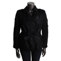 INC Womens Faux Leather Double Breasted Athletic Jacket