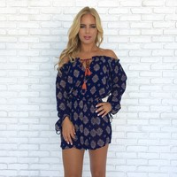 Eye Of The Needle Off Shoulder Romper