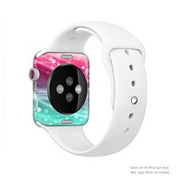 The Vibrant Multicolored Abstract Swirls Full-Body Skin Set for the Apple Watch