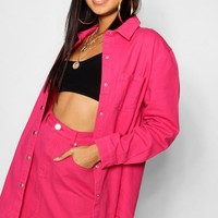 Hot Pink Denim Skirt | Boohoo
