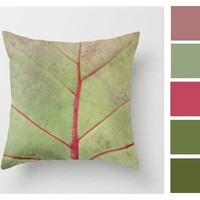 Outdoor Pillow, Weather Resistant Pillow Cover, Nature Leaf Decor, Outdoor Patio Furniture