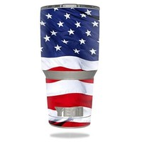 Protective Vinyl Skin Decal for YETI 30 oz Rambler Tumbler wrap cover sticker skins American Flag DECAL ONLY
