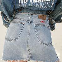 LA.EDIT Destructed Denim Mini Skirt at PacSun.com