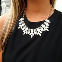Cream Crystal Necklace